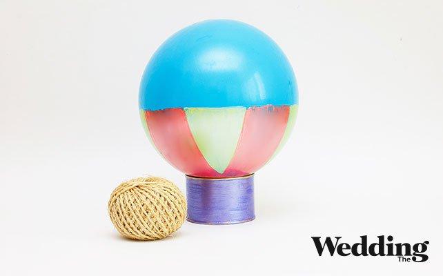 как сделать номер стола, подвешенный на воздушном шаре