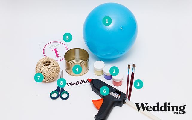 материалы для изготовления номера стола на воздушном шаре