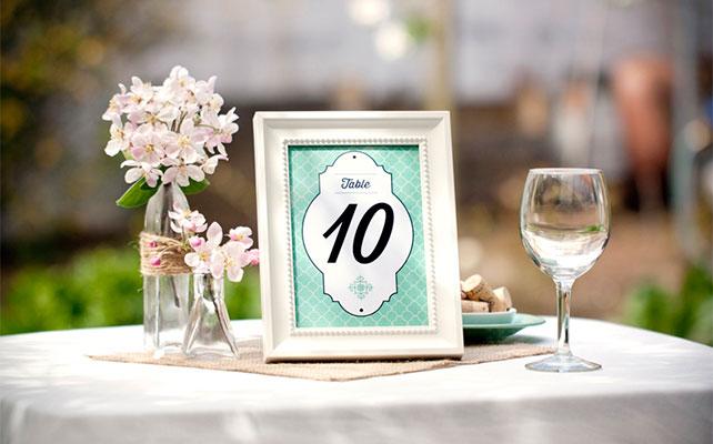 Номерок на стол свадебный своими руками