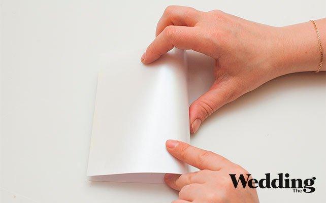 Правильно согнуть открытку, сделать своими руками