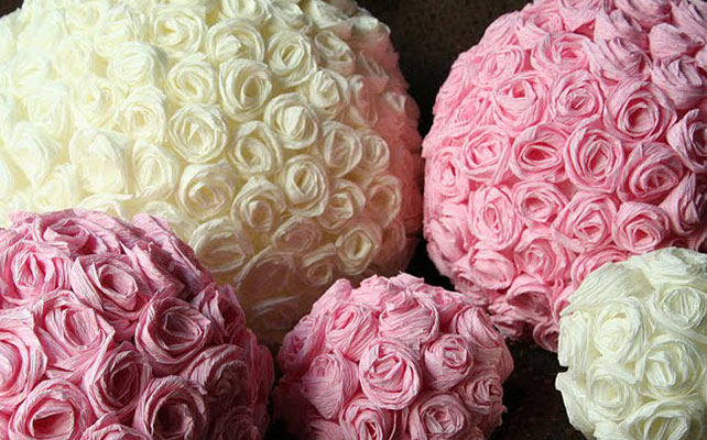 Шар из роз своими руками