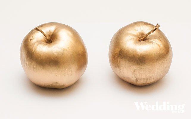 как сделать рассадочные карточки из яблок
