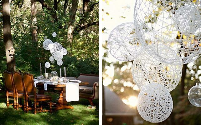 Как украсить двор к свадьбе фото