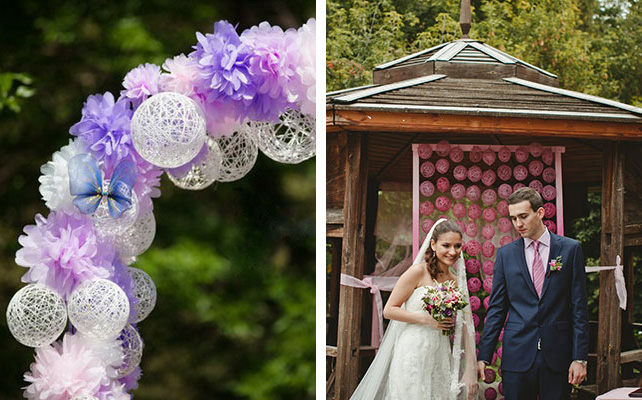 Оформление на свадьбу своими руками идеи фото 208
