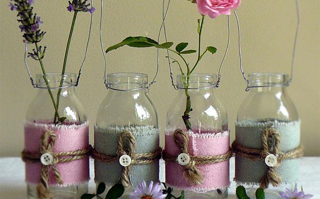 Сделать вазу из банки стеклянной своими руками