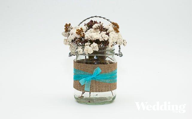 Как сделать вазу из банки своими руками легко 4