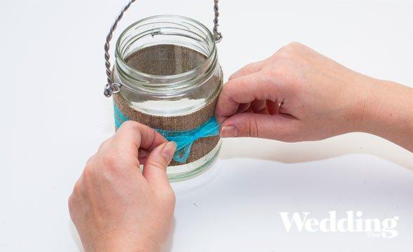 Как сделать вазу из банки своими руками легко 78