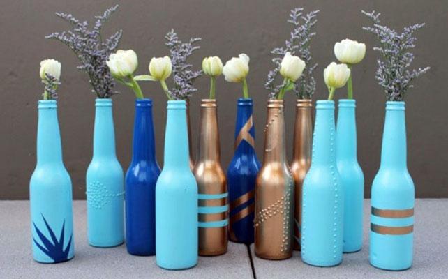 Своими руками сделать вазу из стеклянной бутылки