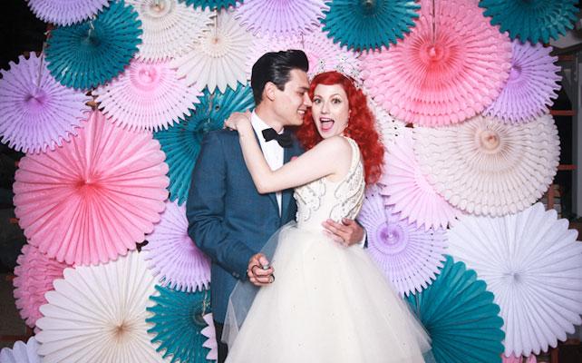 бумажные веера для свадьбы своими руками