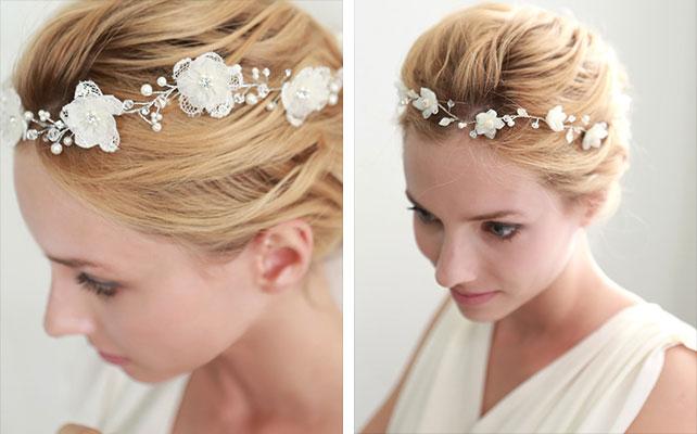 Сделать свадебные цветы на голову своими руками 56