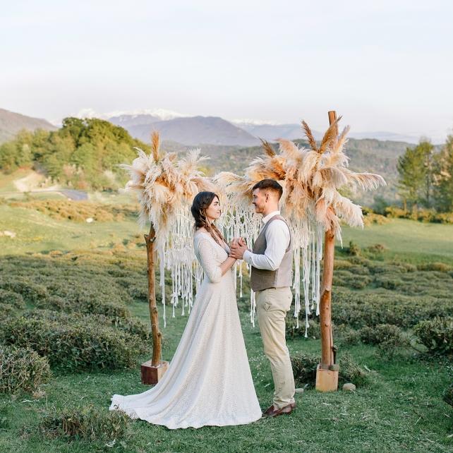 Свадьба Алёны и Сергея в стиле бохо